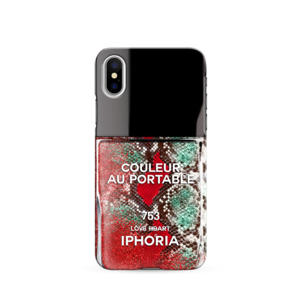 iPhoria Red Snake Classic Nailpolish Handyhuelle Case