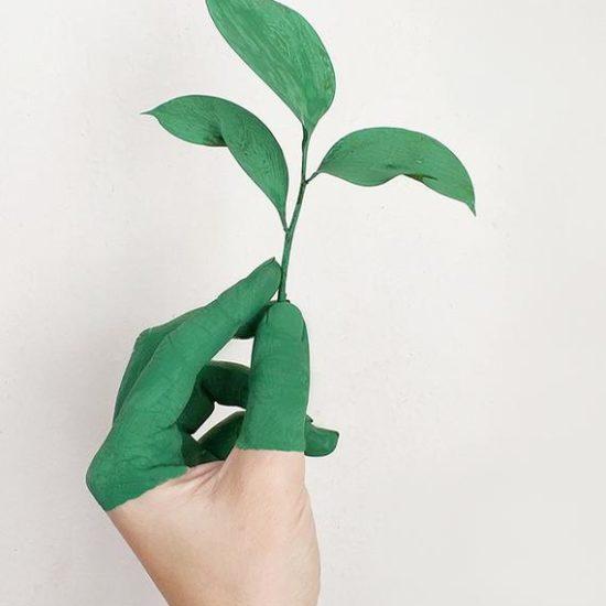 grüne Hand