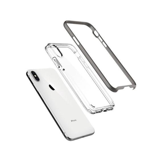 Spigen-Neo-Hybrid-Gunmetal-iphone-x-xs-open